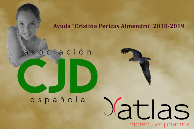 ATLAS Molecular Pharma awarded with the research grant 'Cristina Pericàs Almendro' 2018-2019 by the Spanish Association for Creutzfeldt-Jakob disease